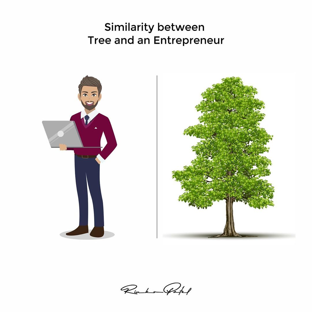 Similarity between a tree and an Entrepreneur. . . . #entrepreneur #entrepreneurlife #entrepreneurship #entrepreneurmindset #business #businessman #lifecoach #moneymindset #rinku5265