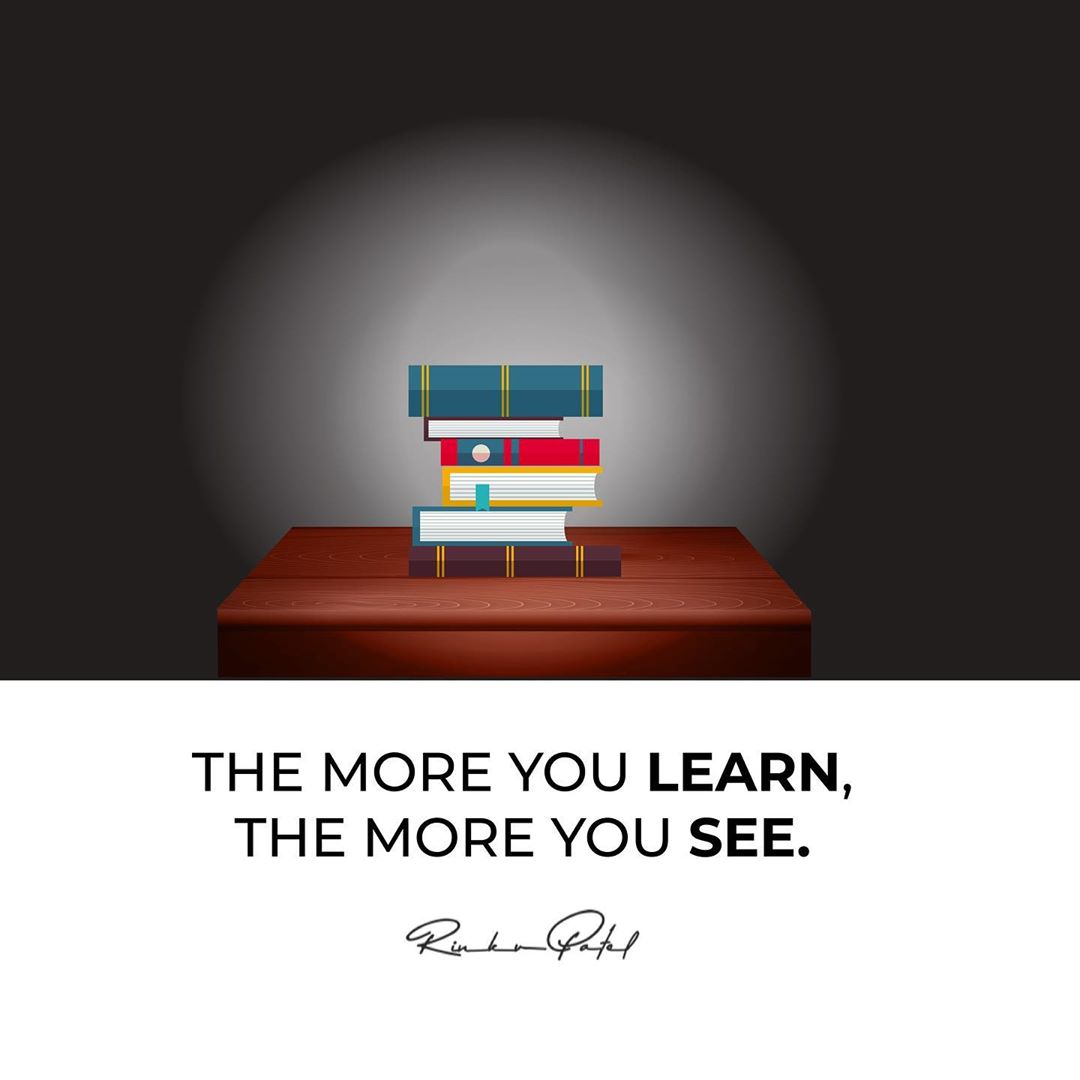 Your vision expands with the lights of book.
