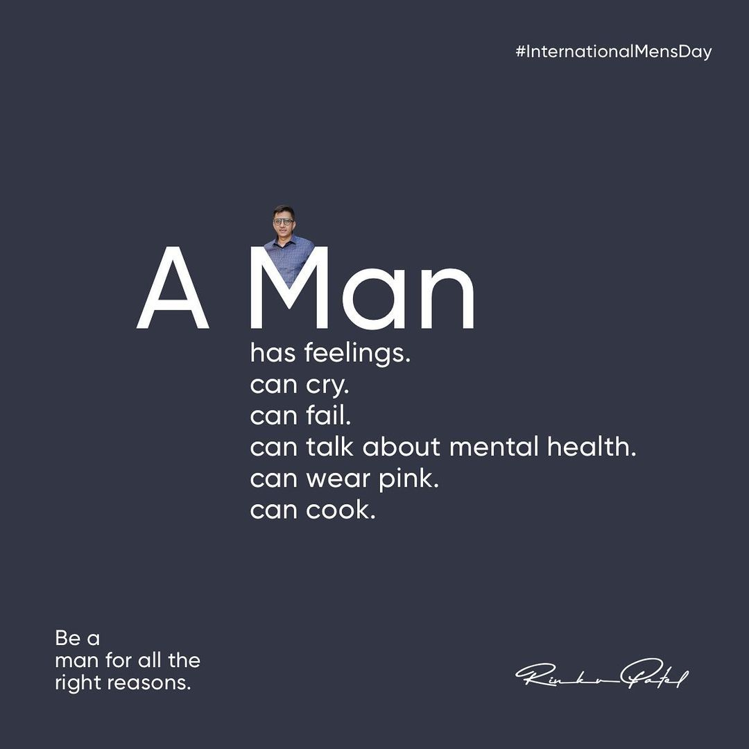 A Man can be whatever he wants to be!  . . . #internationalmensday #entrepreneur #entrepreneurlife #entrepreneurship #entrepreneurmindset #bright #mindset #moneymindset #moneyminded #moneymanagement #business #businessman #rinku5265 #anarrubtechpvtltd #mensday