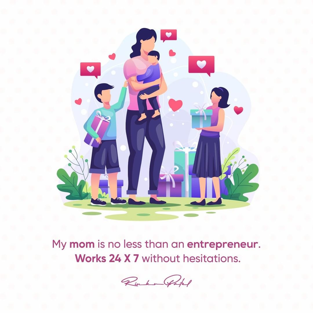 No complaints, just constant effort and dedication always.   Wishing the lovely mothers a Happy mother's day!  #mothersday #happymothersday❤️ #mothersday2021 #happymothersday2021❣️ #mom #entrpreneur #businessideas #rolemodel #entrepreneurship #businessowner #rinku5265 #topicalspot #topicalspot