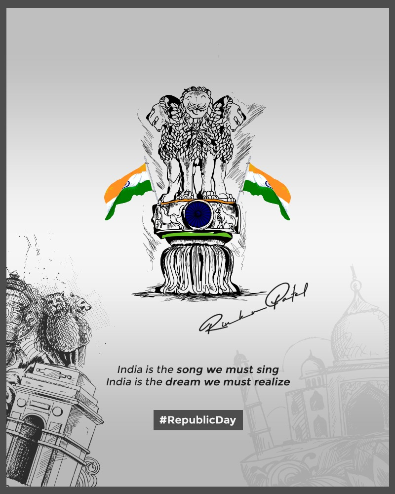 wishes you a Happy Republic Day and is grateful to this nation for giving such safety and security in living and working with pride.  #RepublicDay #HappyRepublicDay #RepublicDay2020 #RinkuPatel https://t.co/ZeVDj2z6hz