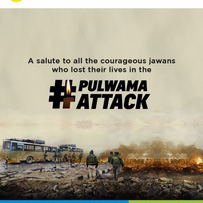 Salute to Brave Soldiers Who Sacrificed Their Life in Pulwama Attack!! 🙏🇮🇳 Never Forget ! Never Forgive ! JAIHIND !!! 🇮🇳  #PulwamaAttack  #BlackDay  #JaiHind #Pulwamamartyrs #IndianArmy https://t.co/ZfBn6XteXJ