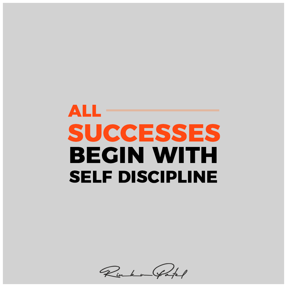 All successes begin with self discipline.  #entrepreneur #business #motivation #entrepreneurship #success #entrepreneurlife #marketing #love #startup #inspiration #money #businessowner #goals #RinkuPatel https://t.co/TIuocO9dOv